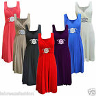 LADIES GIRLS WOMENS SHORT BUCKLE MAXI DRESS EVENING GOWN BRIDESMAID WEDDING