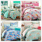 Floral Print Single/Double/Queen/King Bed New Cotton Quilt/Doona/Duvet Cover Set