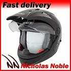 SPADA DUO Matt Black DUAL MODE OPEN FACE FULL FACE MOTORCYCLE SUNVISOR HELMET
