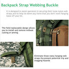 Molle Strap Backpack Webbing Connecting Buckle Clip 30mm Black/Khaki CA12