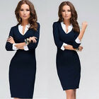 Summer Sexy Women's OLOffice Formal Party Pencil Dress V-neck Work Bodycon Dress