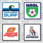 NASL Soccer Art Canvas Print - American Retro Football Teams
