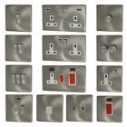 Satin Chrome Screwless Flatplate Light Switches & Plug Sockets