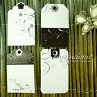 Pack of Art Deco Retro Floral Elegant Wedding Gift Tags Hang Tag Price Label