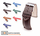 BOB Genuine Shark Watch Band for Breitling, 18, 20, 22, 24 mm, 7 colors, new!