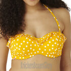Panache Cleo Swimwear Betty Bandeau Bikini Top Yellow CW0033 NEW Select Size