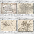 Maps Of East and North Yorkshire Art Canvas Prints - Hull Beverley Goole Brid