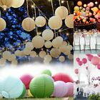 "8"" 10"" 12"" Round Chinese Paper Lanterns Wedding Party Anniversary Decor 10 Piece"