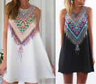 New Womens Ladies Summer Casual Floral Boho Maxi Party Evening Mini Dress Beach