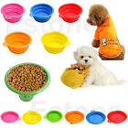 Dog Cat Pet Portable Silicone Collapsible Travel Dish Feeder Feeding Bowl Water
