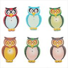 80/400pcs 161401 New Fashion Assorted Colorful Owls Sew-on Charms Wooden Buttons