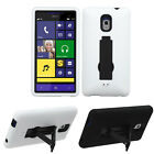 Sprint HTC 8XT 4G LTE IMPACT Hard Rubber Case Kickstand Cover +Screen Protector