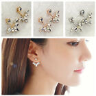 NEW Fashion Women Ear Hook Plated Crystal Rhinestone Stud Ear Clip Earrings Hot