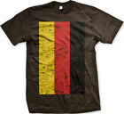 Oversized Distressed German Flag- Germany Deutschland Pride  Mens T-shirt