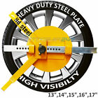 Caravan Motorhome Car Van Security Anti Theft High Visibility Wheel Clamp Lock