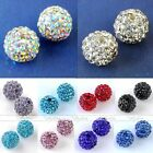 10mm 12mm Disco Ball Pave Crystal Rhinestone Spacer Bead Fit Jewelry DIY Finding