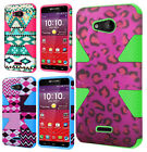 For Kyocera Hydro Wave C6740 IMPACT TUFF HYBRID Case Skin Cover + Screen Guard