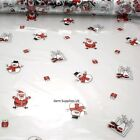 Santa Snowman on Clear Christmas Cellophane Gift Wrap Basket Wrapping 80cm Rolls