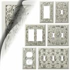 Wall Switch Plate Cover Filigree Antique White Arabesque Outlet Toggle Rocker