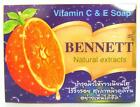 Vitamin C & E Soap  BENNETT Natural extracts Acne Aid From Thailand 130 GRAMS