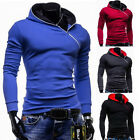 Fashion Korean Men's Slim Fit Sweatshirts Hooded Cardigan Jacket Coat Sport Tops