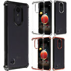 For Kyocera Hydro Wave C6740 Hybrid Silicone Skin Case Cover +Screen Guard