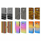 HEAD CASE DESIGNS DYNAMIC STRIPES LEATHER BOOK WALLET CASE FOR SAMSUNG PHONES 1