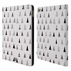 HEAD CASE DESIGNS BNW DOODLE LEATHER BOOK WALLET CASE COVER FOR APPLE iPAD