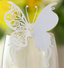 butterfly laser cut wedding favor pearlescent mark wine glass  table nam cards