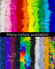 6 Ft Long Feather Boas 27 color options Halloween Costumes, Fun Dress Up Parties