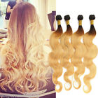 Real Human Hair Extensions 1b/27# Hair 2Tone Ombre Body Wave Weft 50g/pc Fashion