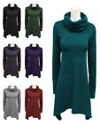 C88-LADIES COWL NECK OVERSIZED KNITTED LONG SLEEVE JUMPER TOP-UK 8-22