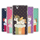 HEAD CASE FANCY UNICORNS CHUBBY COLLECTION SOFT GEL CASE FOR SONY XPERIA C4