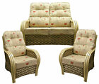 Gilda New Delux Lumbar Support Cane SUITE CUSHIONS Wicker Conservatory Furniture