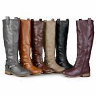 Journee Collection Womens Wide and Extra-Wide Calf Riding Boots