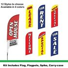 For Rent Flag Kit for Realtors & Real Estate. Complete kit with carry-case
