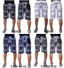 Men's TRUE ROCK black white blue charcoal PAISLEY SQUARE shorts style JAGUAR-405