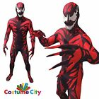 Adult Mens Official Marvel Carnage Morphsuit Spiderman Fancy Dress Party Costume
