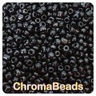 100g BLACK OPAQUE LUSTERED glass seed beads- choose size 6/0 8/0 11/0 (4, 3, 2mm