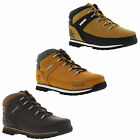 Timberland Euro Sprint Junior Womens Wheat Brown Leather Ankle Boots Size 4-5.5