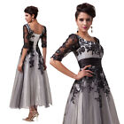 Size 2-24W Vintage Formal Prom Wedding Party Evening Cocktail Dresses Lace+ Tull