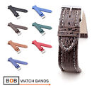 Mens Genuine Shark Watch Band/Strap, 18, 20, 22, 24 mm, 7 colors, new!