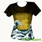 JAPANESE Hokusai TSUNAMI WAVE T SHIRT TOP ASIAN ART PRINT PAINTING JAPAN UKIYOE