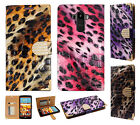 For LG G Stylo Premium Leather Wallet Case Pouch Flip Phone Cover Crocodile Skin