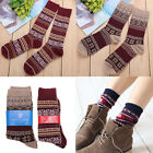 Men Women Cotton Snowflake Socks Cotton Couples Christmas Cartoon Socks XMAS Gif