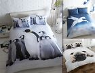 100% Brushed Cotton Flannelette Animal Quilt Duvet Cover & Pillowcases Bed Sets