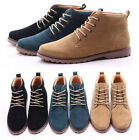 British Men's Casual Suede Lace Ankle Boots High Top Loafers Sneakers Shoes