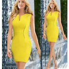 Womens Autumn Elegant Peplum Wear To Work Business Casual Party Sheath Dress
