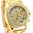 Brilliant Gold Dial Band Bling Crystal Womens Ladies Fashion Wrist Watch Cool