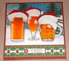 Handmade Greeting Card 3D Christmas With Beer